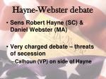 hayne webster debate