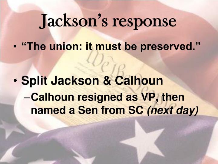 Jackson's response