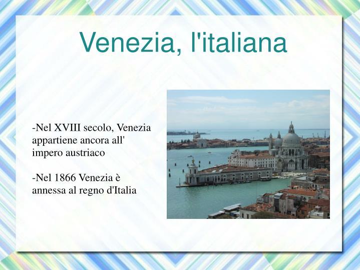 Venezia, l'italiana