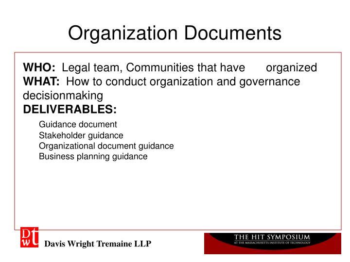 Organization Documents