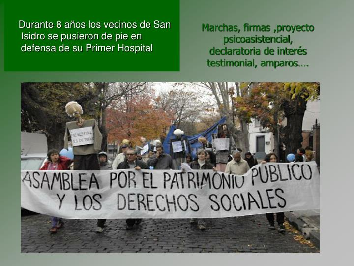 Marchas, firmas ,proyecto