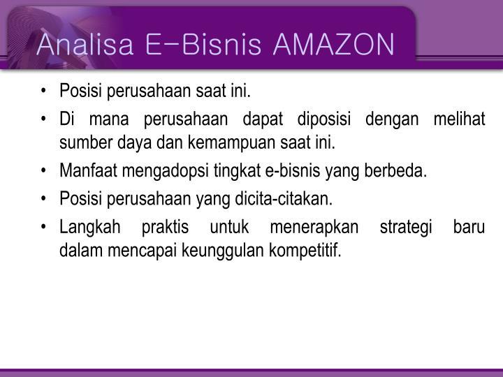 Analisa E-Bisnis AMAZON