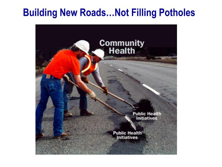 Building New Roads…Not Filling Potholes