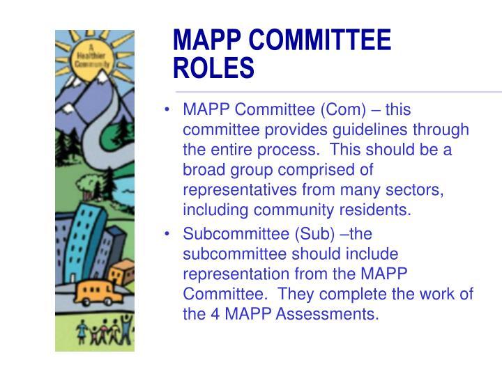 MAPP COMMITTEE ROLES