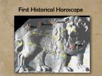 first historical horoscope