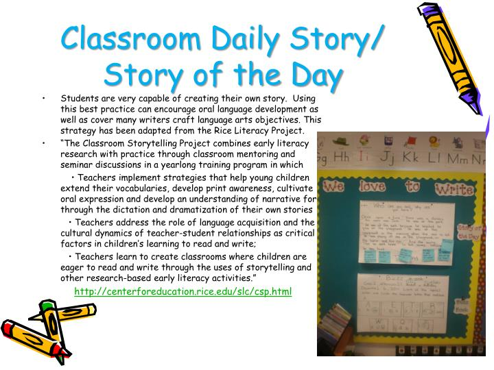 Classroom Daily Story/ Story of the Day