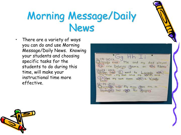 Morning Message/Daily News