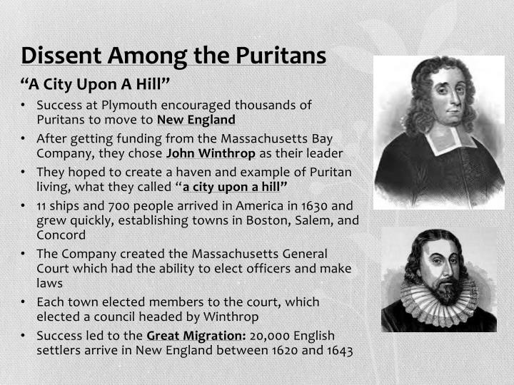 Dissent Among the Puritans