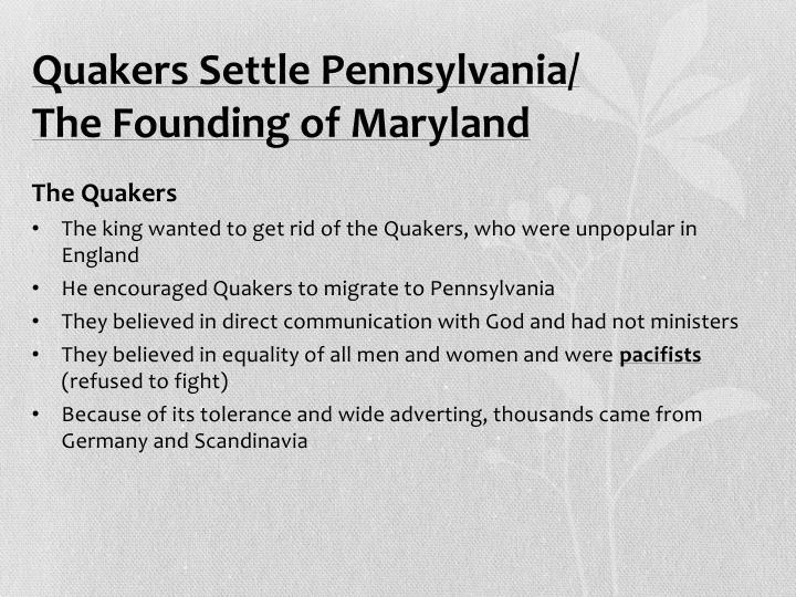 Quakers Settle