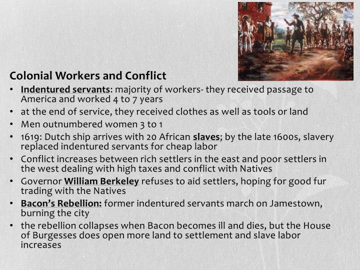 Colonial Workers and Conflict