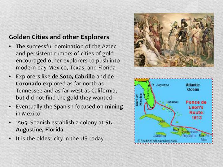 Golden Cities and other Explorers