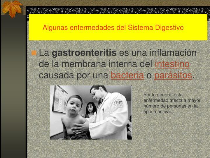 Algunas enfermedades del Sistema Digestivo