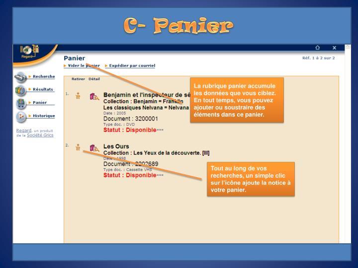 C- Panier