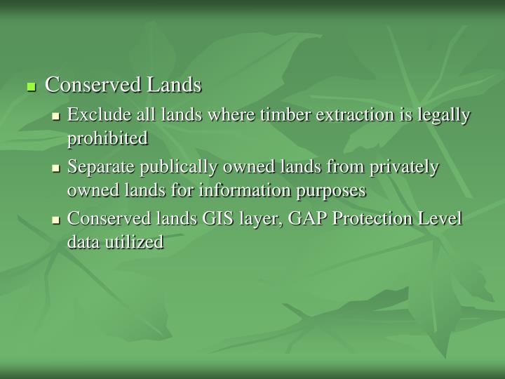 Conserved Lands