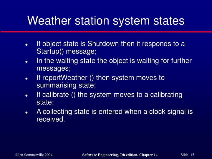 Weather station system states