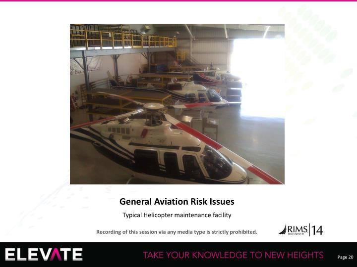 General Aviation Risk Issues