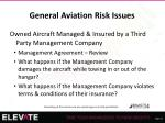 general aviation risk issues29