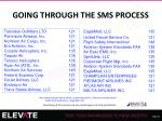 going through the sms process