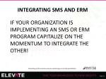 integrating sms and erm