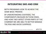integrating sms and erm1