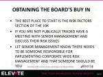 obtaining the board s buy in1