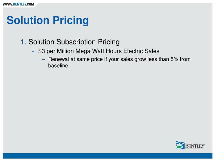 Solution Pricing