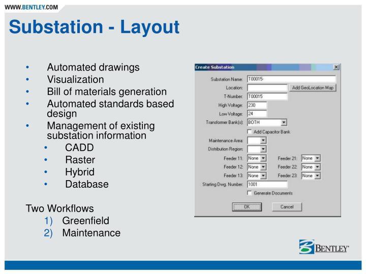 Substation - Layout