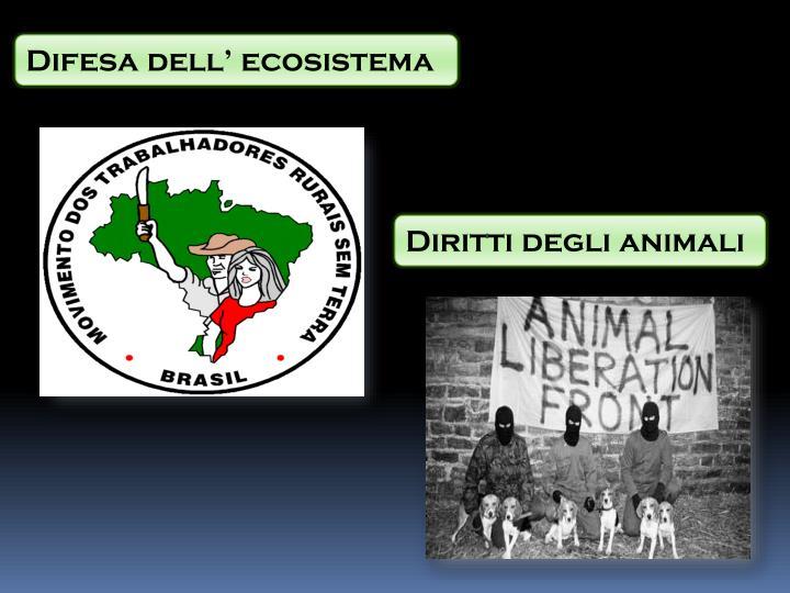 Difesa dell' ecosistema