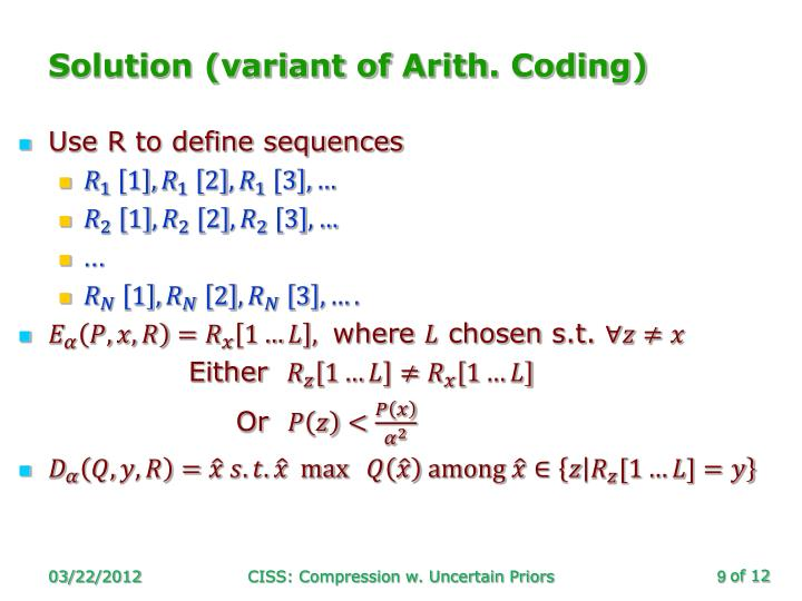 Solution (variant of