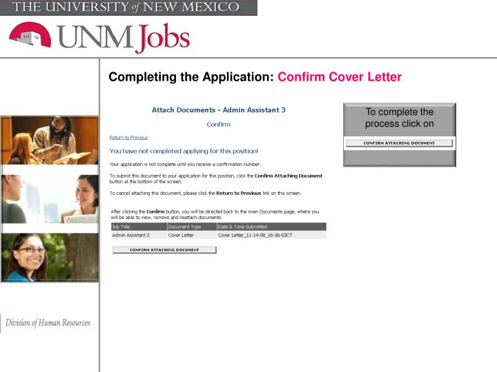 Completing the Application: