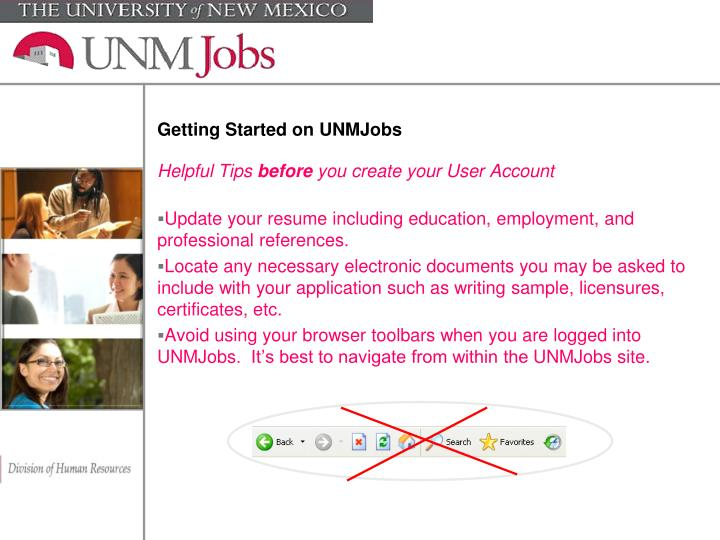 Getting started on unmjobs