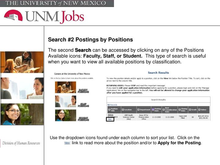Search #2 Postings by Positions