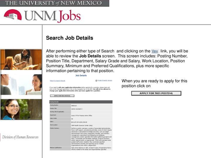 Search Job Details