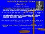 george bernard shaw about him1