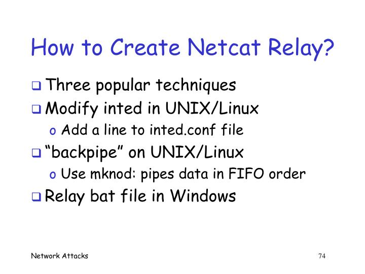 How to Create Netcat Relay?