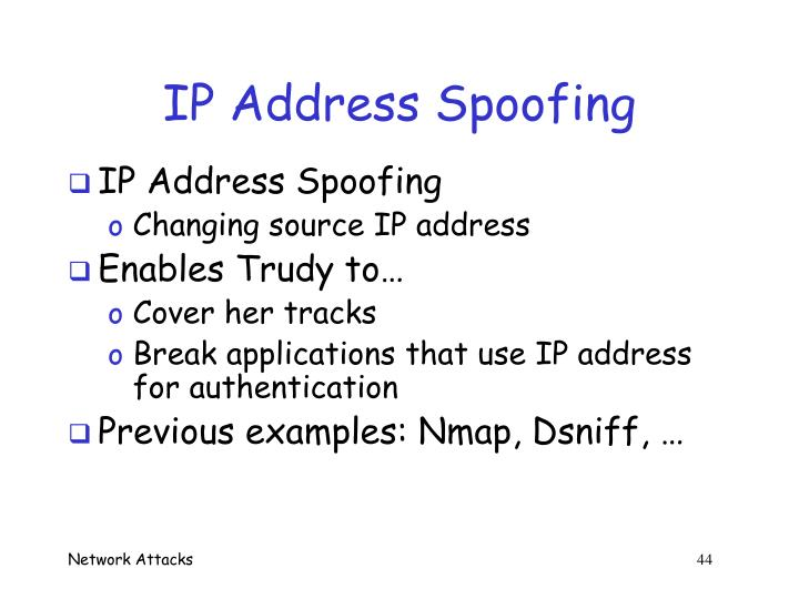 IP Address Spoofing