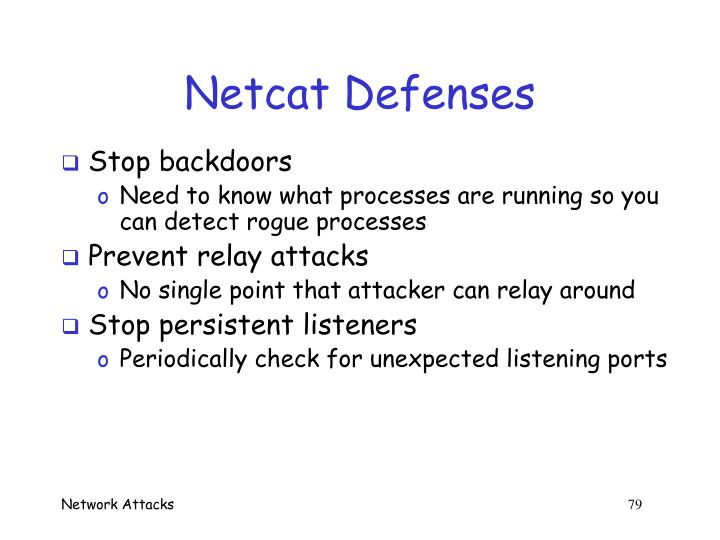 Netcat Defenses
