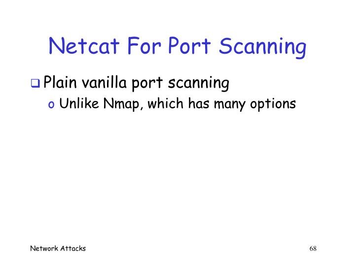 Netcat For Port Scanning