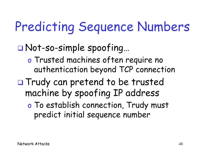 Predicting Sequence Numbers