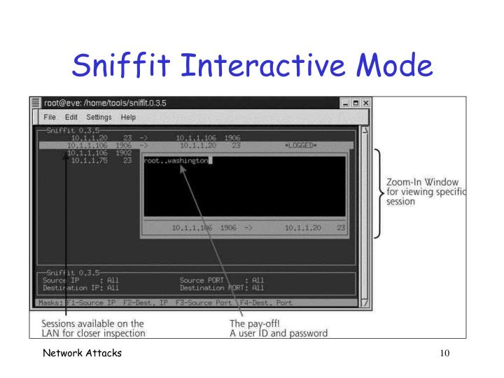 Sniffit Interactive Mode