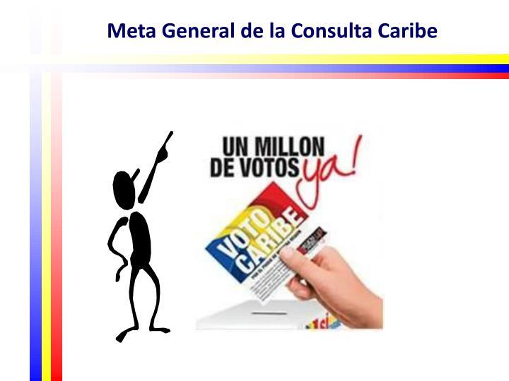 Meta General de la Consulta Caribe