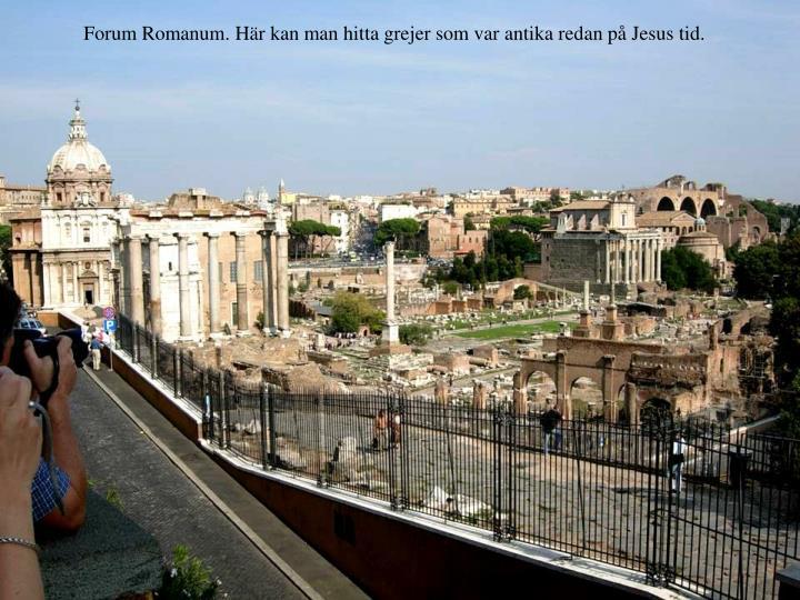 Forum Romanum. Hr kan man hitta grejer som var antika redan p Jesus tid.