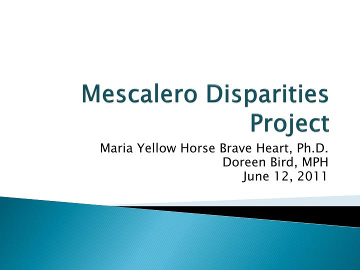 Mescalero disparities project