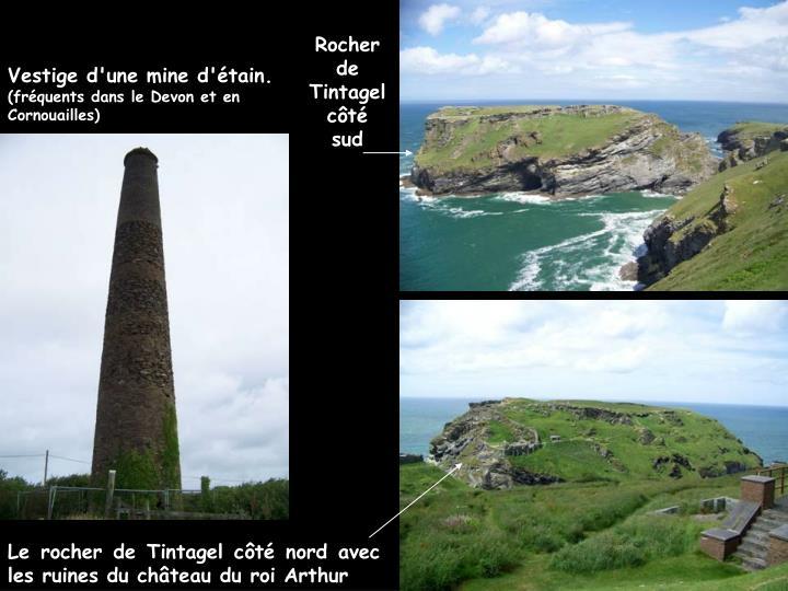 Rocher de Tintagel côté sud