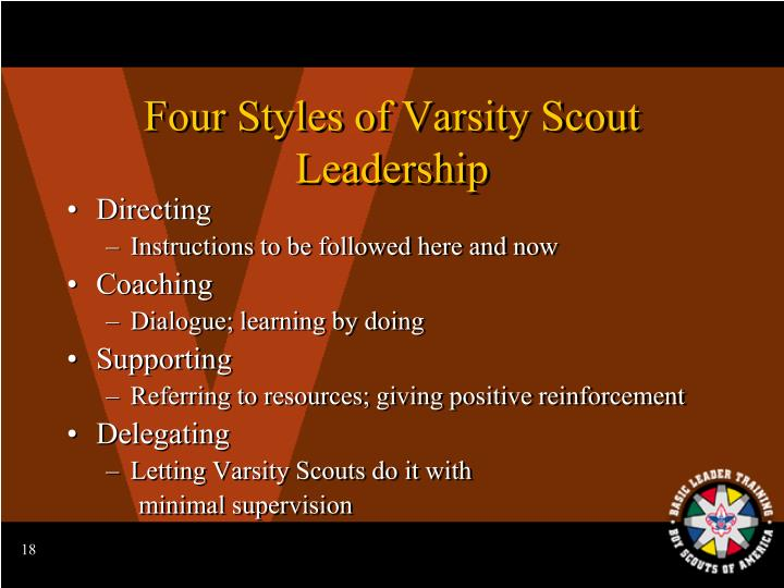 Four Styles of Varsity Scout Leadership