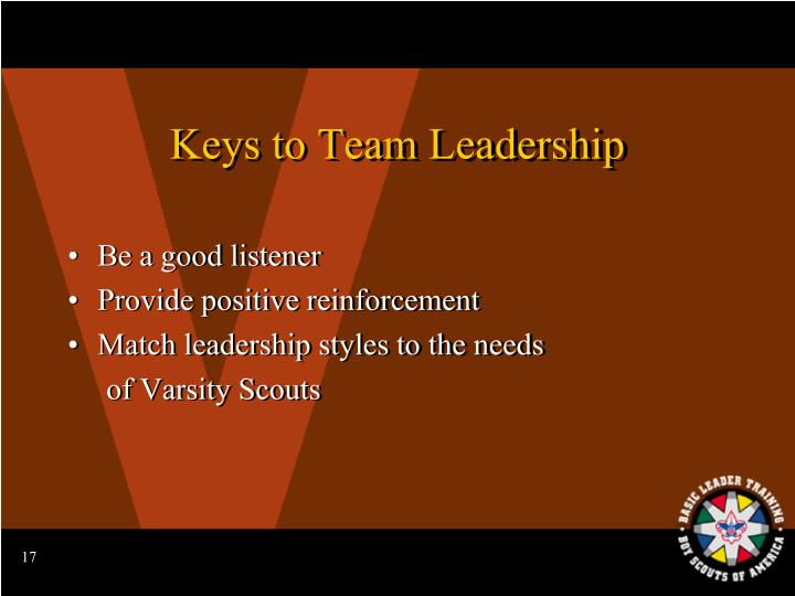 Keys to Team Leadership