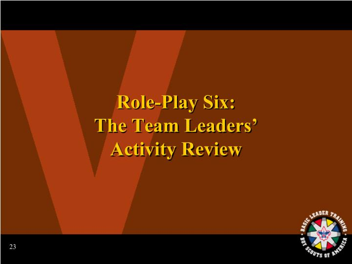 Role-Play Six: