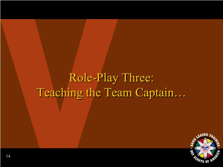 Role-Play Three: