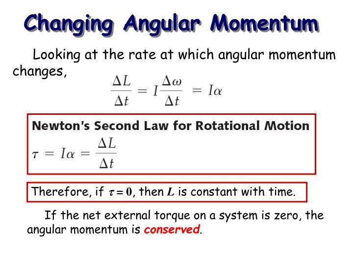 Changing Angular Momentum
