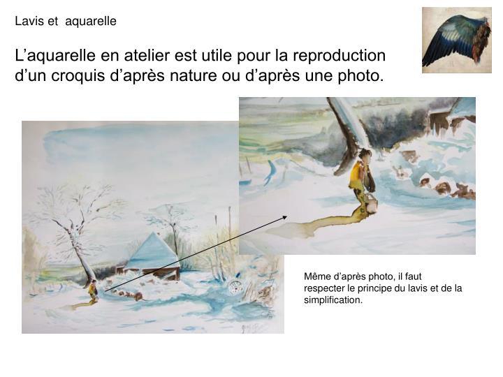 L'aquarelle en atelier est utile pour la reproduction